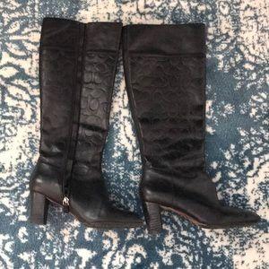 Coach tall black boots!!